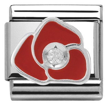Nomination Red Rose Charm  - Click to view larger image
