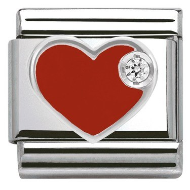 Nomination Red Heart Charm  - Click to view larger image