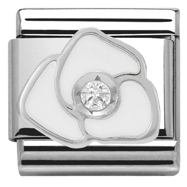 Nomination white rose charm click to view larger image