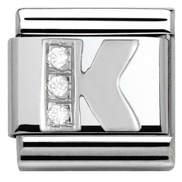 Nomination Cubic Zirconia K Charm  - Click to view larger image