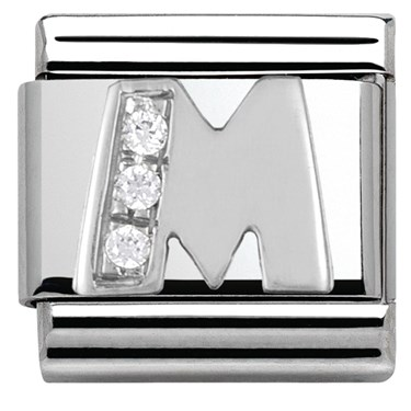Nomination Cubic Zirconia M Charm  - Click to view larger image