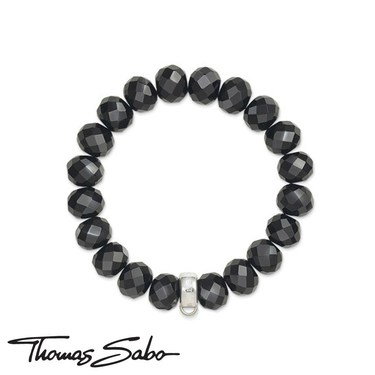 Thomas Sabo Obsidian Charm Carrier Bracelet  - Click to view larger image