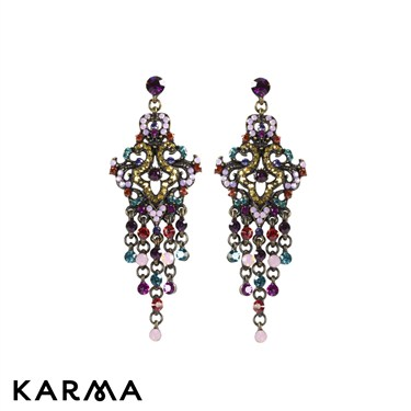 August Woods Multi-Colour Chandelier Earrings - Click to view larger image