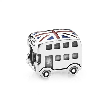Pandora Best Of British Union Jack Bus Charm  - Click to view larger image
