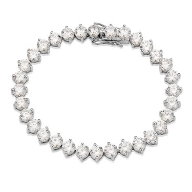Argento Cubic Zirconia Tennis Bracelet  - Click to view larger image