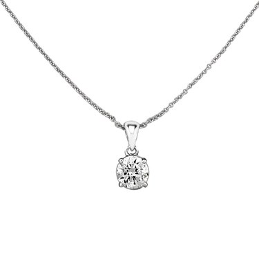 Argento Round 6.5mm Cubic Zirconia Necklace  - Click to view larger image