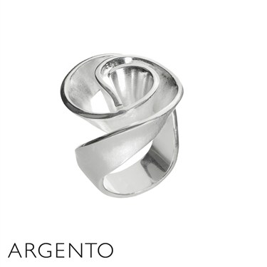 Argento Abstract Rose Ring