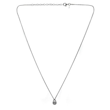 Argento Teardrop Crystal Necklace  - Click to view larger image