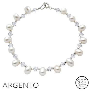 Argento Pearl Crystal Bracelet  - Click to view larger image