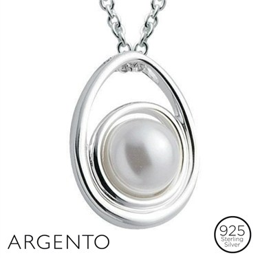 Argento Pearl and Silver Necklace