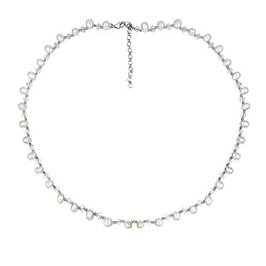 Argento Pearl and Crystal Necklace