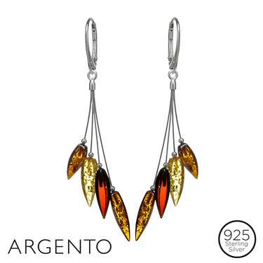 Argento Amber Cascade Drop Earrings