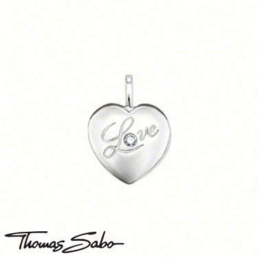 Thomas Sabo Love Heart Pendant  - Click to view larger image