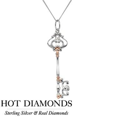 Hot Diamonds Unlocked Victorian Necklace
