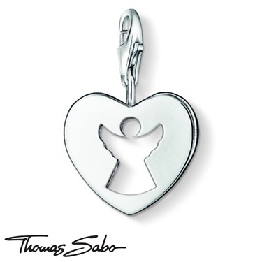 Thomas Sabo Guardian Angel Heart Charm  - Click to view larger image