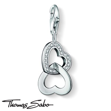 Thomas Sabo Entwined Hearts Charm  - Click to view larger image
