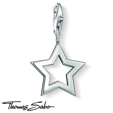 Thomas Sabo Silver Star Charm  - Click to view larger image