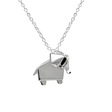 Argento Origami Elephant Necklace  - Click to view larger image