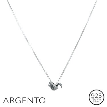 Argento Origami Swan Necklace