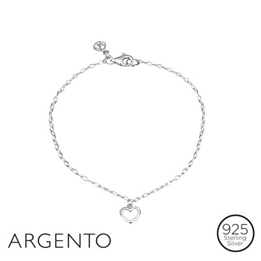 Argento Little Heart Bracelet  - Click to view larger image