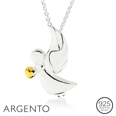 Argento Charity Angel Necklace  - Click to view larger image