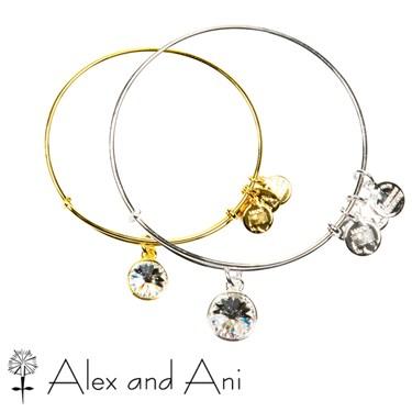 Alex and Ani April Crystal Birthstone Bangle