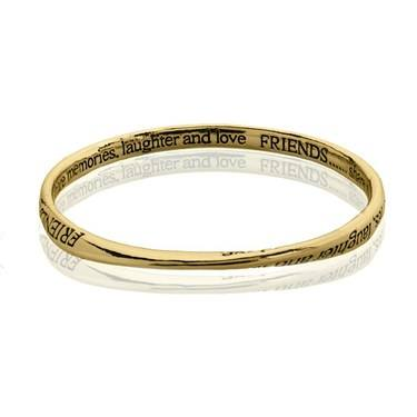 August Woods Gold Friends Bangle  - Click to view larger image