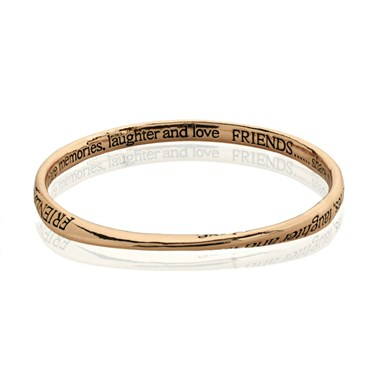 August Woods Rose Gold Friends Bangle  - Click to view larger image