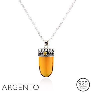 Argento Amber Blade Necklace