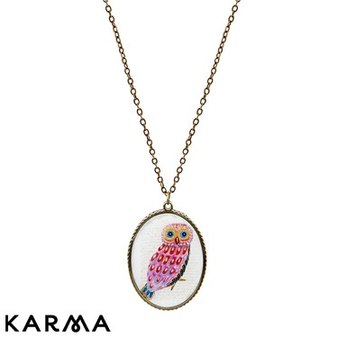 Karma Owl Picture Necklace