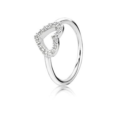 Pandora Pavé Heart Ring