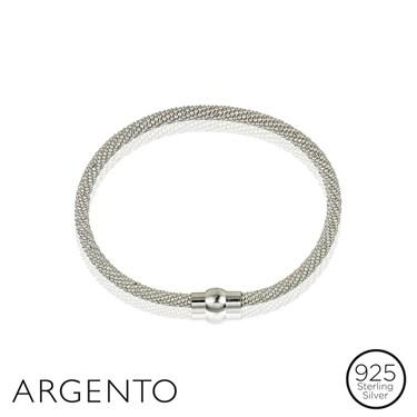 Argento Silver Magnetic Bracelet