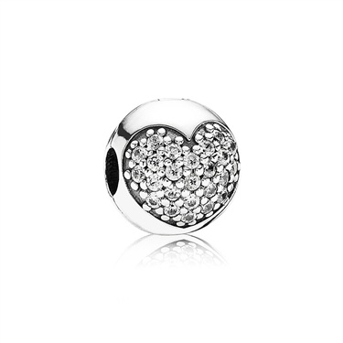 Pandora Pavé Heart Clip  - Click to view larger image