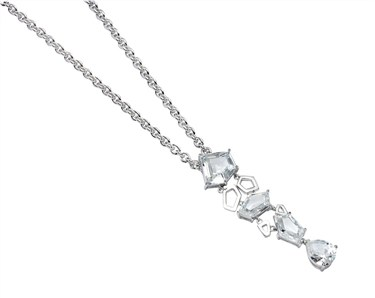 Argento Silver Geometric Necklace