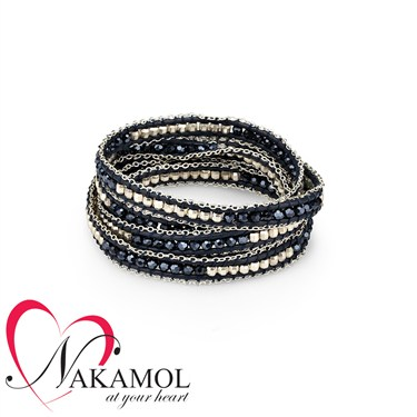Nakamol Design Metallic Blue Wrap Bracelet