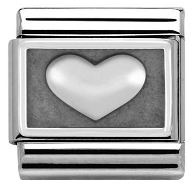 Nomination Oxidised Heart Charm