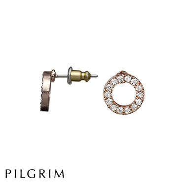 Pilgrim Victoria Rose Gold Plated Earrings  - Click to view larger image