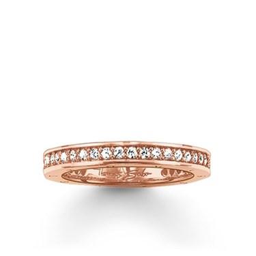 Thomas Sabo Rose Gold Ring  - Click to view larger image