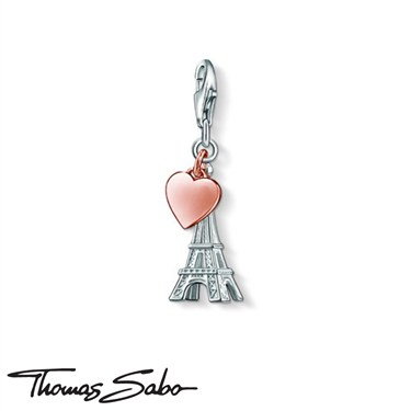 Thomas Sabo Eiffel Tower Heart Charm  - Click to view larger image