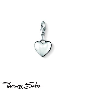 Thomas Sabo Silver Heart Charm  - Click to view larger image