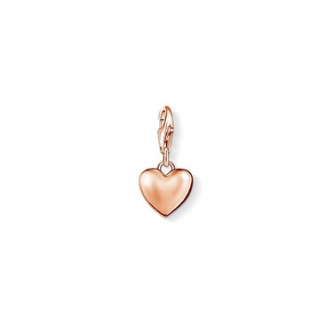Thomas Sabo Rose Gold Heart Charm  - Click to view larger image