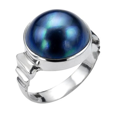 Argento Grey Mabe Pearl Ring