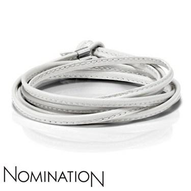 Nomination White Leather Bracelet