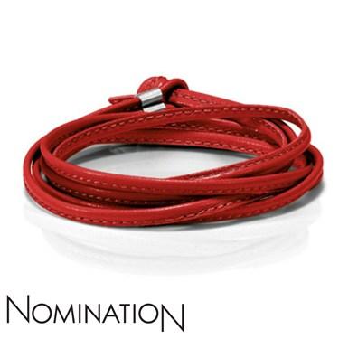 Nomination Red Leather Bracelet