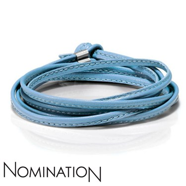 Nomination Light Blue Ice Mint Cord  - Click to view larger image