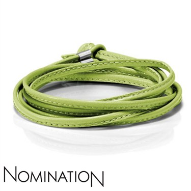 Nomination Green Leather Bracelet  - Click to view larger image