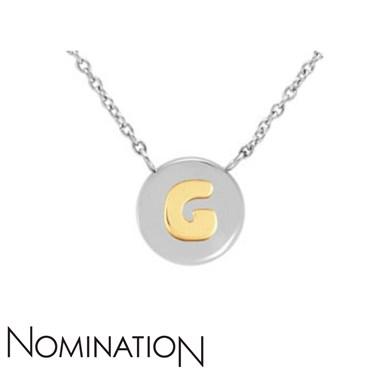 nomination my bon bons letter g necklace argentocouk