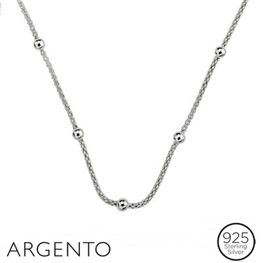Argento Beaded Necklace  - Click to view larger image