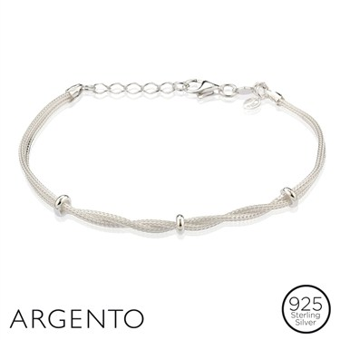 Argento Silver Bead Bracelet