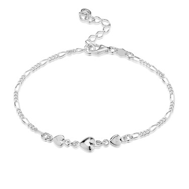 Argento Triple Heart Bracelet  - Click to view larger image